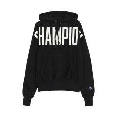 【包税】Champion 男士胸前oversized字母logo连帽加绒卫衣 life线 Reverse WeaveGF68-Y07698图片