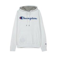 【包税】Champion/冠军 男女同款草写logo抓绒连帽套头长袖卫衣GF89H图片
