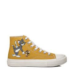 【猫和老鼠联名款】2020新款EVER UGG帆布鞋女卡通动漫高帮板鞋TA5015 建议脚胖 脚宽 脚背高的客人选大一码图片