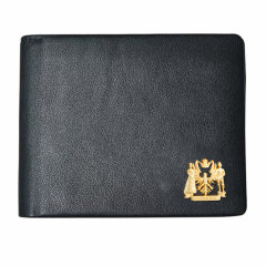 LIEMOCH/利马赫 黑色经典商务头层牛皮钱包男士短款钱夹图片