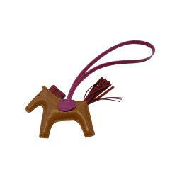 HERMES/爱马仕 rodeo 小号棕色/紫色小马挂饰挂件 包挂图片