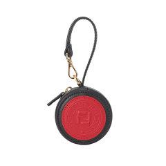【包税包邮】FENDI/芬迪 女士双F黑色圆形手包挂饰 7AR721A5MNF14RZ图片