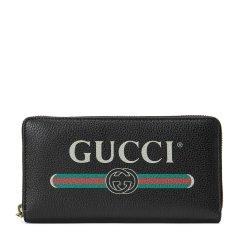 GUCCI/古驰 Gucci标识印花全拉链式钱包 皮质 496317 0GCAT图片