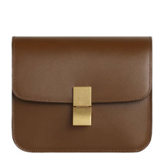 【包税】CELINE/赛琳 Classic Box系列  女士酒红色小牛皮经典简约单肩斜挎包盒子包图片