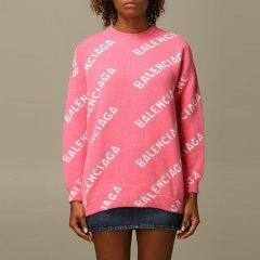 Balenciaga/巴黎世家 20年秋冬 百搭 女性 logo 女士针织衫/毛衣 620983T1567图片