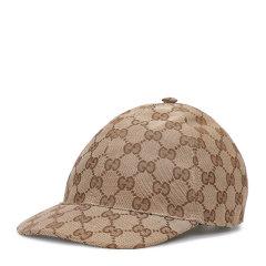 【20春夏新款】GUCCI/古驰 男童墨蓝色/乌木色帆布GG图案棒球帽  481774 3HC65 DX图片