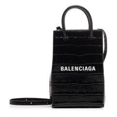 Balenciaga/巴黎世家 20年秋冬 百搭 女性 logo 黑色 手提包 593826/1U61N1090图片