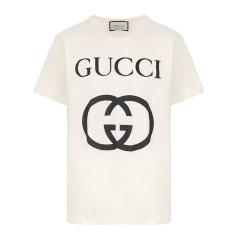 GUCCI/古驰男士短袖T恤饰互扣式G超大造型T恤 493117 X3Q35图片
