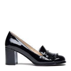 PACOGIL/PACOGIL  2020春夏新款漆皮粗跟女士高跟鞋图片