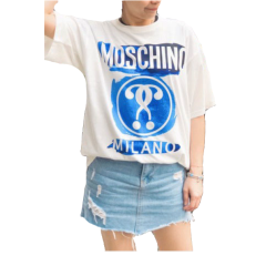 MOSCHINO/莫斯奇诺水彩双问号短T男女同款潮流新款图片