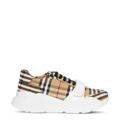 BURBERRY/博柏利 男士Vintage 格纹棉质运动鞋休闲鞋跑步鞋老爹鞋厚底男鞋图片