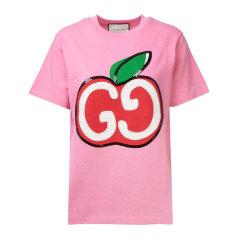 GUCCI/古驰 GG苹果印花T恤 女士短袖T恤580762 XJB7U图片