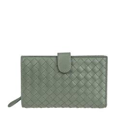 Bottega Veneta 宝缇嘉 女士羊皮编织钱包图片