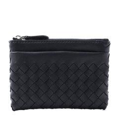 【包税】Bottega Veneta/葆蝶家 中性款羊皮编织拉链钱夹钱包图片