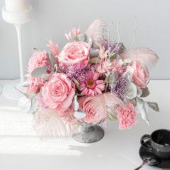 FLOWERSONG/「月光宝盒」心动邂逅-轻奢款,特大号双开礼盒-永生玫瑰瓶花图片