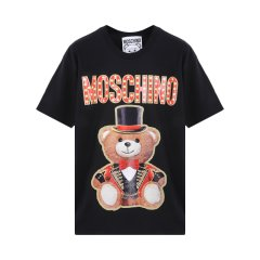 【包税】MOSCHINO/莫斯奇诺女士马戏团魔术熊印花短袖T恤EV07020540图片