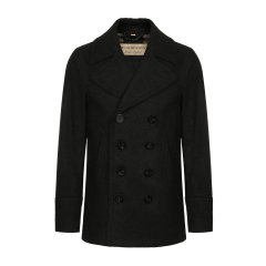 BURBERRY/博柏利 burberry服装 巴宝莉 双排扣 深蓝色 外套  男装 男士大衣 80045891图片