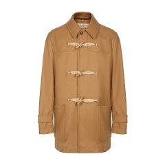 BURBERRY/博柏利 burberry服装 巴宝莉 男士外套 大衣 男装 羊毛混纺 牛角扣 深蓝色 夹克 外套 男士大衣80084791图片