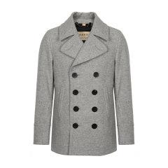 【海外奥莱直采】BURBERRY/博柏利 burberry 巴宝莉  双排扣羊毛羊绒混纺双排扣男士短款大衣 外套 男装 80045881图片