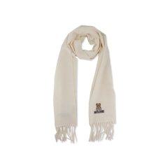 【清仓】【包税】MOSCHINO/莫斯奇诺女士时尚流苏泰迪熊刺绣围巾50091M5166图片