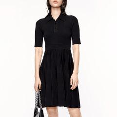 MO&Co./摩安珂女士连衣裙2020秋季新品学院风收腰Polo领针织连衣裙MBO3DRS023图片