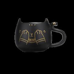 大英博物馆盖尔安德森猫呆萌猫害羞猫陶瓷杯图片