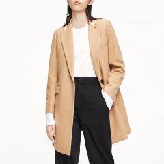 MO&Co./摩安珂女士大衣冬季翻领个性拼接毛呢外套MBO3OVCX09图片