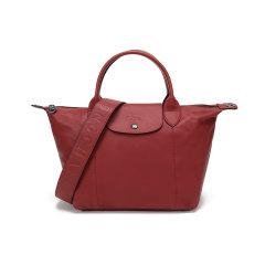 Longchamp/珑骧  女士LE PLIAGE CUIR系列羊皮短柄可折叠手提单肩包饺子包 1512 757图片