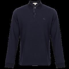 BURBERRY/博柏利  条纹格子门襟长袖POLO衫 黑色 80271071图片