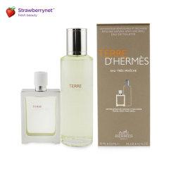 HERMES/爱马仕  大地男士淡香水套装:可补充淡香水喷雾 30ml +补充装 125ml图片