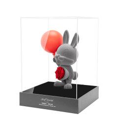 JoyFlowe圣诞节情人节礼物进口永生花礼盒-告白气球甜心兔图片