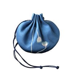 步步生莲·手工刺绣香囊 纯棉真丝提神醒脑事事如意随身香包香囊挂件图片