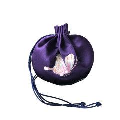 蝶舞天涯·手工刺绣香囊 纯棉真丝提神醒脑事事如意随身香包香囊挂件图片