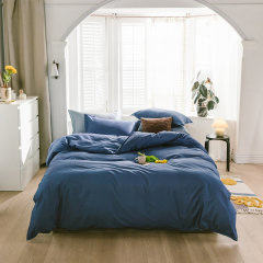 花花公子40支纯棉床上用品纯色四件套床单被罩枕套图片