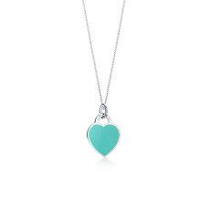 【预售两周发货】Return To Tiffany系列 蓝色珐琅心形小号吊坠项链图片