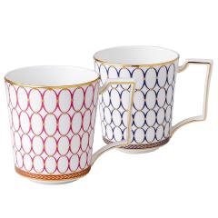 Wedgwood/玮致活 金粉年华骨瓷蓝色两个装马克对杯水杯杯子茶具茶杯1054482图片