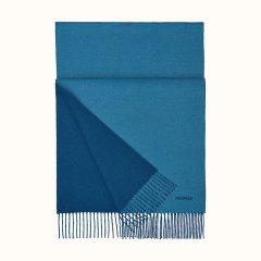 【预售两周发货】HERMES/爱马仕  男士 双面  全羊绒 围巾/披肩围巾  H393800T 19图片