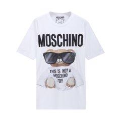 【包税】MOSCHINO/莫斯奇诺 女士嘻哈泰迪熊短袖T恤EV07065540图片