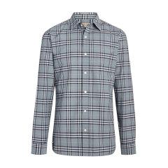 BURBERRY/博柏利 巴宝莉 衬衫 burberry 衬衫 博柏利衬衫 衬衣 男装 纯棉格纹男士长袖衬衫 80032831图片