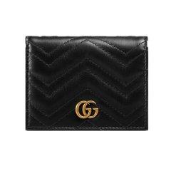 GUCCI/古驰 GG Marmont系列皮质卡包 466492 DTD1T图片