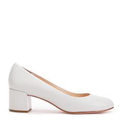 西班牙进口女鞋圆头浅口粗跟高跟女鞋图片