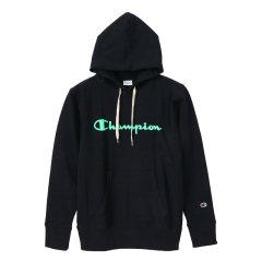 日版 Champion冠军 秋冬款 草写logo 休闲运动 连帽卫衣 套头衫 男女同款图片