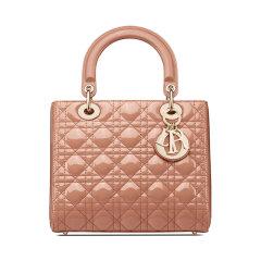 DIOR/迪奥 中号 Lady Dior 手袋 玫瑰漆皮牛皮革 M0565OWCB图片