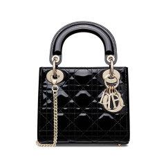 DIOR/迪奥 迷你 Lady Dior 手袋 漆皮牛皮革藤格纹 M0505OWCB图片