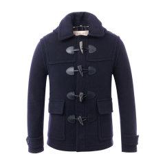 BURBERRY/博柏利  羊毛混纺灰色牛角扣男士大衣 男士外套 风衣 39825301图片