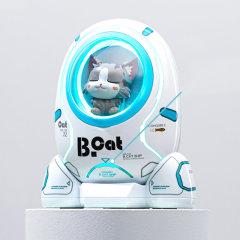 QUEES/乔氏 猫咪柴犬太空舱充电宝车载移动电源 10000毫安 黄油猫系列图片