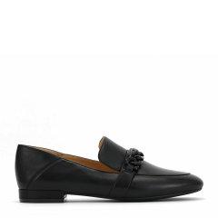 BENATIVE/本那【2021春夏新款】休闲百搭链条乐福鞋低跟圆头平底单鞋图片
