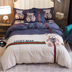 全棉生态磨毛四件套 环保活性印染 卡通风被套床单秋冬保暖 1.51.8米床 ROYALROSE LITERIE图片