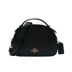 【包税】COACH/蔻驰 女士新款单肩手提斜挎包 盒子半圆包 相机包 1589黑色图片