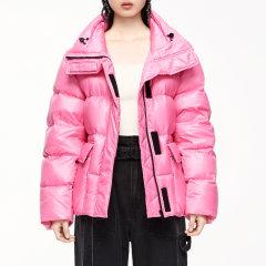 MO&Co./摩安珂女士羽绒服2020秋季新品立领荧光色亮色短款羽绒外套MBO3EINT01图片